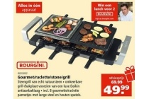 bourgini gourmet raclette stone grill