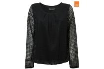 blouse geplooid