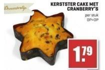 kerststercake met cranberry s