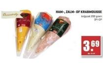 ham zalm of krabmousse