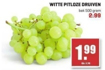 witte pitloze druiven