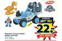 playskool jurrasic world deluxe voertuig