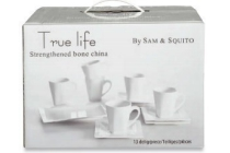 true life 13 delig koffieservies