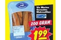 vis marine grookte makreelfilet