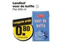 landhof voor de koffie
