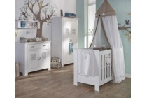 set ledikant commode en hang legkast madeira
