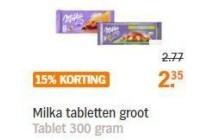 milka tabletten groot