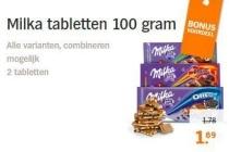 milka tabletten 100 gram