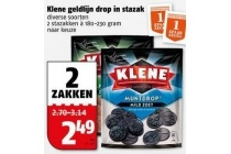 klene geldlijn drop in stazak