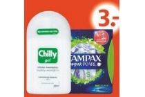 tampax en chilly