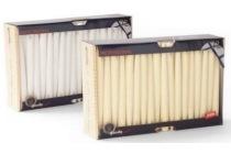 gouda gotische kaars doos 72 stuks en bull wit en bull ivoor en euro 28 65