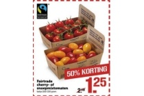 fairtrade cherry of snoeptomaten