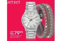 jet set horloge met gratis armband