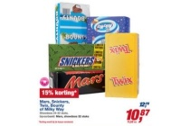 mars snickers twix bounty of milky way