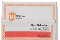 welten snacks bamiblokken extra pittig doos 20 stuks 125 gram en euro 7 25