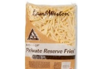 lamb weston frites 9 mm private reserve zak 2500 gram en euro 2 25