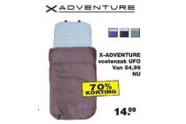 x adventure voetenzak ufo