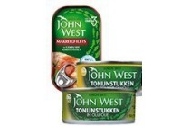 john west tonijnstukken of makreelfilets