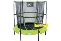 exit bounzy mini trampoline 143 cm met veiligheidsnet