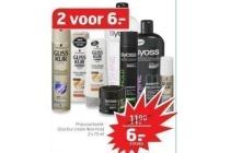 gliss kur en syoss shampoo conditioner en haarstyling