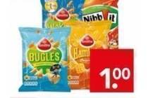 wokkels nibbit bugles cheetos of hamkaas