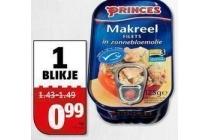princes tonijnstukken of makreel