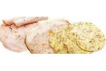 porchetta frutta gevulde kipfilet of spek met ei worst