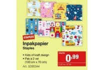 staples inpakpapier