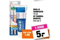 oral b tandpasta of tandenborstel