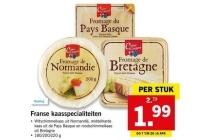 fromage de normandie fromage de bretagne en fromage du pays basque