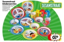 sesamstraat kinderservies