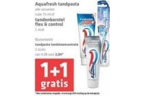 aquafresh tandpasta en tandenborstel flex en control