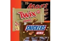 mars snickers bounty en twix mini