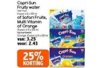 capri sun fruity water of safari fruits multi vitamin of orange