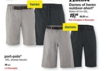 dames of heren outdoor short