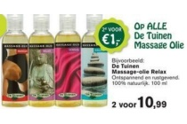 alle de tuinen massage olie