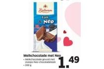 melkchocolade met neo