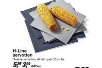 h line servetten