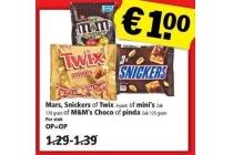 mars snickers of twix of m en m s choco of pinda