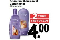 andrelon shampoo of conditioner alle soorten 2 stuks