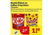 nestle kitkat en coffee crisp bites