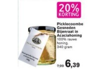 picklecoombe gesneden bijenraat in acaciahoning
