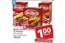 beckers snacks of loempia s