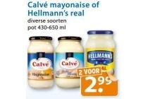 calve mayonaise of hellmann s real