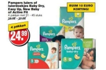 pampers luiers of luierdoekjes baby dry easy up new baby of active fit
