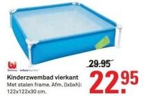bestway kinderzwembad vierkant