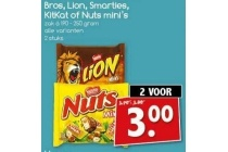 bros lion smarties kitkat of nuts mini s