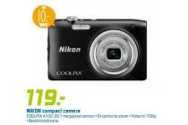 nikon compact camera coolpix a100