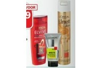 elvive studio line of elnett shampoo of styling