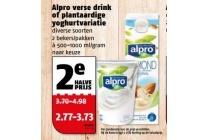 alpro verse drink of plantaardige yoghurtvariatie